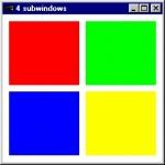 مربع رنگی در OpenGL